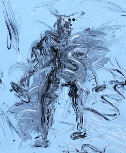 Sans titre - 2014, acrylique sur toile, 100 x 81 cm