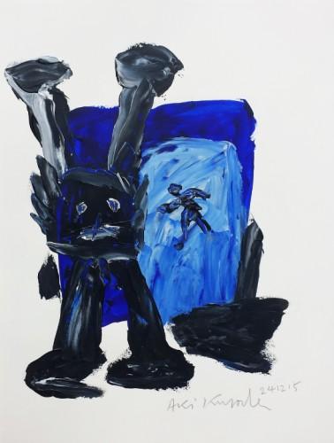 Sans titre - 2016, acrylique sur papier,  50 x 35 cm