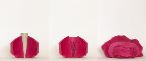 Bobine rouge - 2012, triptyque, photographie, 80 x 300 cm, 5 exemplaires