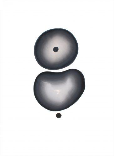 Sans titre - 2015, Encre et gouache sur papier, 76 x 56 cm