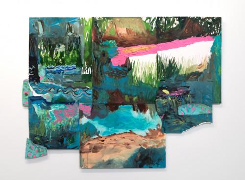 Peinture aquatique - 2012, acrylique et encre sur papier, 70 x 100 cm