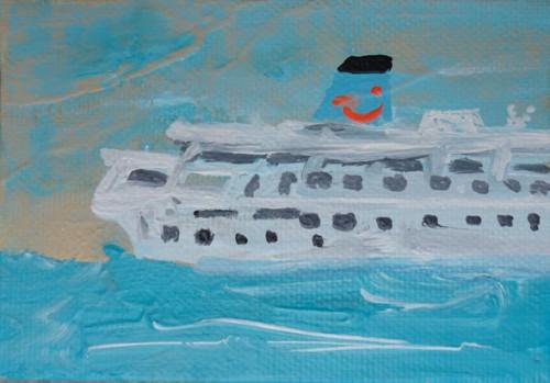 Thomson dream - 2015, acrylique sur toile, 7 x 10 cm