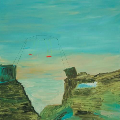 L'inconfort - 2016, acrylique sur toile, 100 x 100 cm