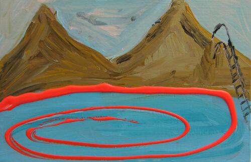 Spirale - 2020, acrylique sur bois,  20 x 30 x 3 cm