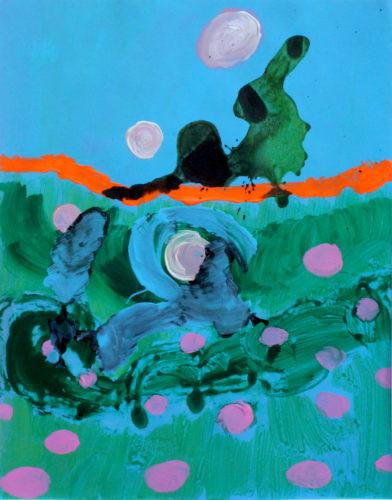 Lapin hurlant65x50 - 2018, Acrylique sur toile, 65 x 50 cm