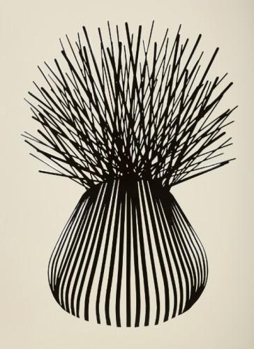 Sans titre #146 - 2016, émail sur acier, 150 x 110 cm