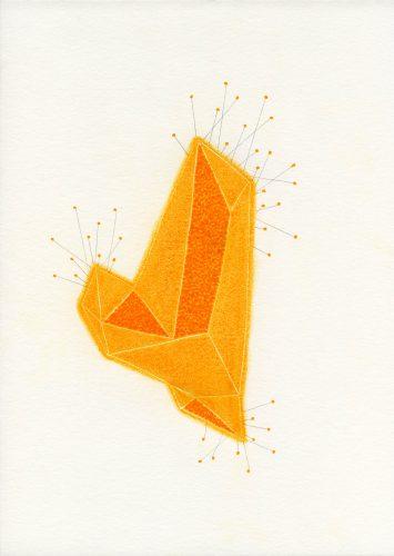 z14_074 - 2014, pastel, encre et crayon sur papier, 29,7 x 21 cm