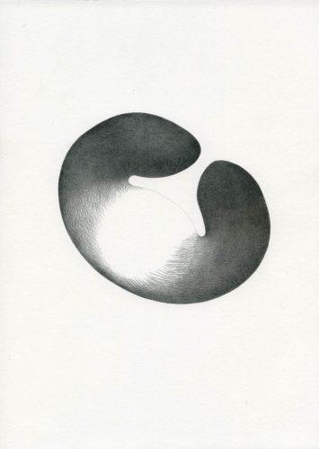 Z16_050 - 2016, Fusain sur papier, 29,7 x 21 cm