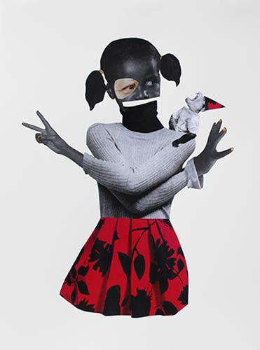 Monkey Chant - Mixte sur papier, 2017,  76,5 x 56 cm