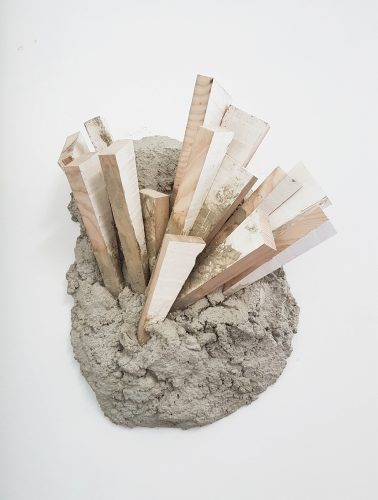 Untitled - 2017, concrete, wood, coating, 45 x35 x 16 cm