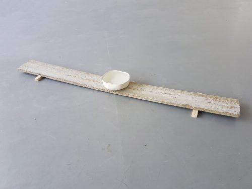 Untitled - 2018, ceramic and concrete, 220 x 30 x 12 cm
