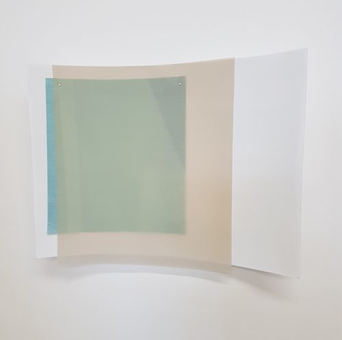 Untitled (texture) - 2018, foamcore, coating, paper, tracing paper, 53 x 40 cm