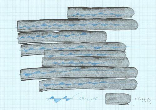 Sans titre - 2018, criterium mines 0,5 mm, acrylique, 21 x 29,7 cm