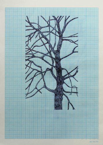 Sans titre - 2018, stylo bille sur papier millimétré, 36 x 26 cm