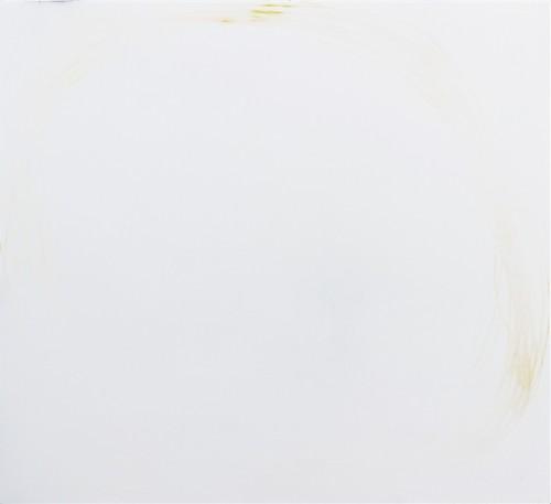 Sans titre (enduit tracé enduit poncé) - 2017, contreplaqué, enduite de lissage, crayon de couleur, 55 x 47 x 2 cm