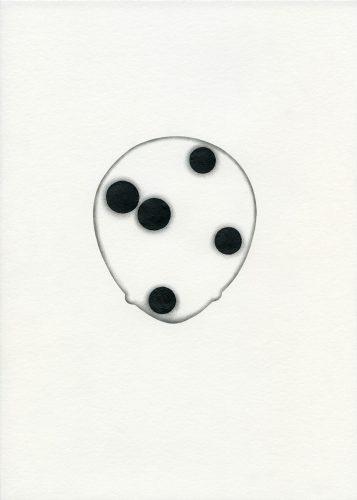Z18_112 - 2018, Mixte sur papier, 29,7 x 21 cm