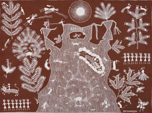 Balu Dumada - Sans titre, 2017, acrylique sur toile, 76 x 100 cm