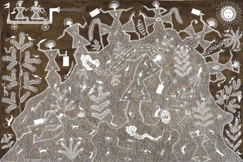 Balu Dumada - Sans titre, 2017, acrylique sur toile, 117.5 x 170.5 cm
