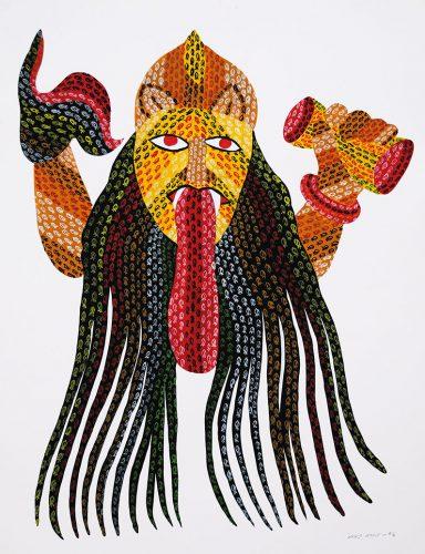 Venkat Shyam - Sans titre, acrilyque sur papier, 71 x 55.5 cm