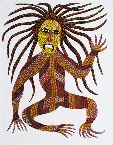 Venkat Shyam - Sans titre, acrylique sur papier, 71 x 55.5 cm