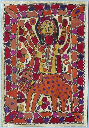 Yamuna - Sans titre, vers 1990, couleurs végétales sur papier, 55 x 38 cm