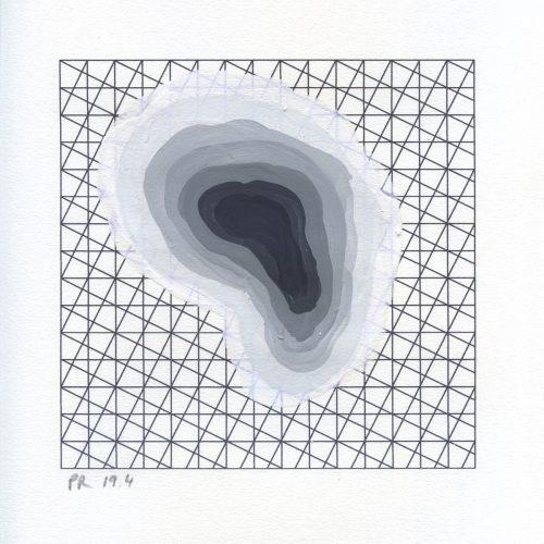 PR_FIASCOS_19_04 - 2015, gouache sur papier, 25 x 25 cm