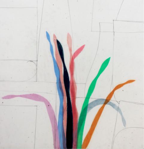 Stages 9 - 2020, pastel gras sur papier calque, 70,5 x 64,5 cm