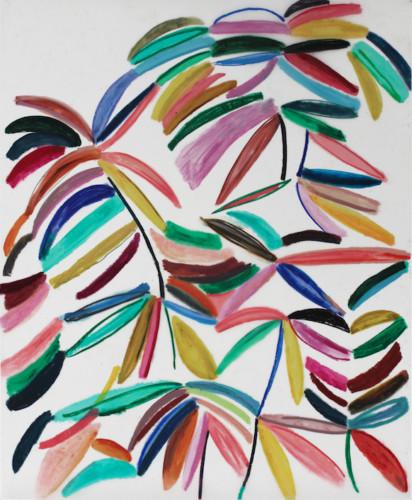 Tree 10 - 2020, pastel gras sur papier calque, 144 x 121 cm