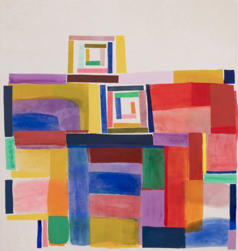 Untitled (Spring) - 2021, acrylique sur toile, 178 x 165 cm