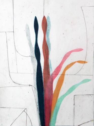 Stages 11 - 2020, pastel gras sur papier calque, 44 x 31 cm