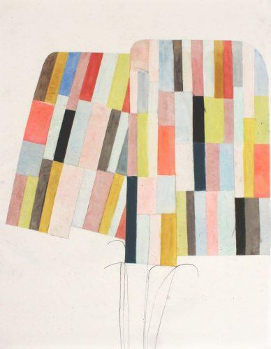 Willow - 2018, pastel gras et crayon sur papier calque,  122 x 91,5 cm