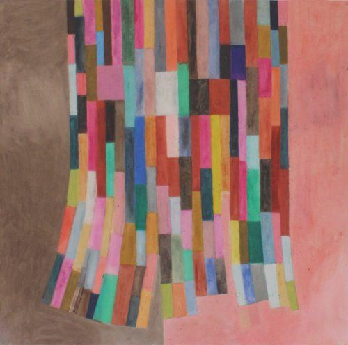 Willow - 2018, pastel gras sur papier calque,  90 x 91,5 cm