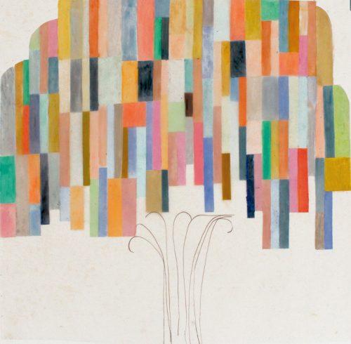 Willow - 2018, pastel gras et crayon sur papier calque,  90 x 85 cm