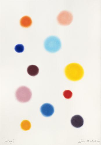 July - 2020, pastel sur papier, 99 x 67 cm