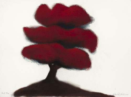 Red Tree - 2018,pastel sur papier,57 x 76 cm