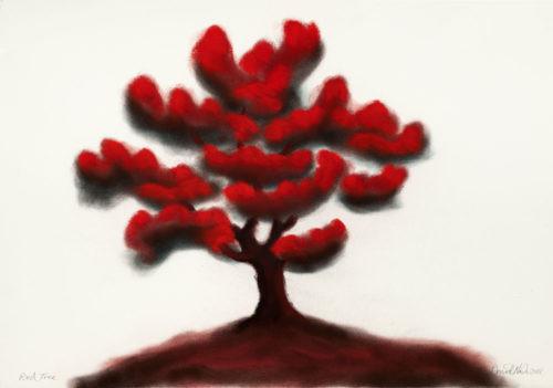 Red Tree - 2018,pastel sur papier,57 x 76 cm
