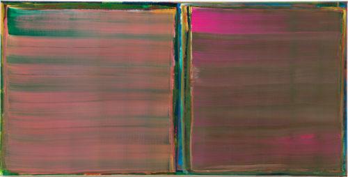 Sans titre - 2016, huile sur toile, 50 x 100 cm