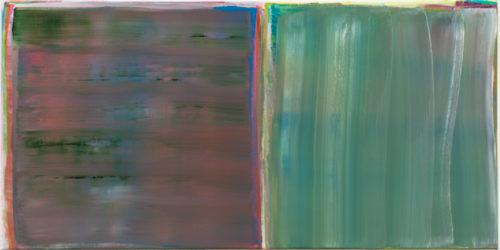 Sans titre - 2015, huile sur toile, 50 x 100 cm