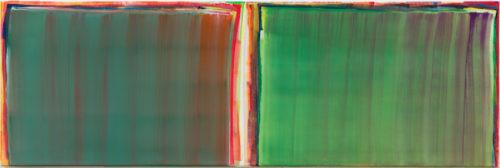 Sans titre - 2016, huile sur toile, 40 x 120 cm