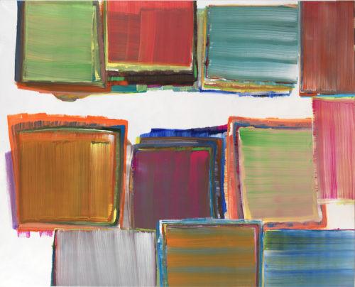 Sans titre - 2014, huile sur toile, 114 x 162 cm