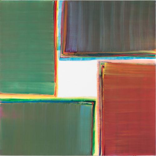 Sans titre - 2017, huile sur toile, 100 x 100 cm