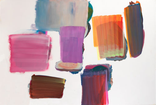 Sans titre - 2017, acrylique sur toile, 130 x 195 cm