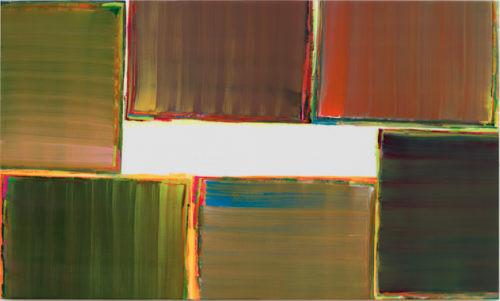 Sans titre - 2016, huile sur toile, 100 x 160 cm